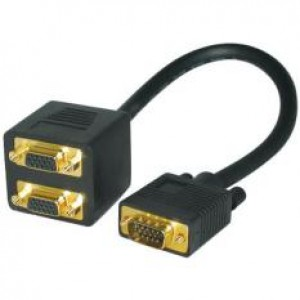 Splitter VGA αρσ. - 2x VGA θηλ.
