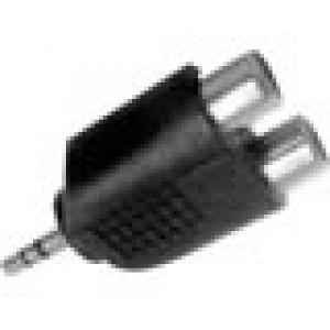 AU-1522 adaptor 3.5 stereo male to 2xRCA female