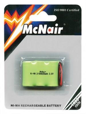 McNair μπαταρία NiMH επαναφ. 3.6V 2/3ΑΑ 650mAh για ασύρμ.τηλ.