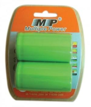 MP μπαταρίες NiMH επαναφορτιζόμενες 2.4V D 300mAh 2τμχ