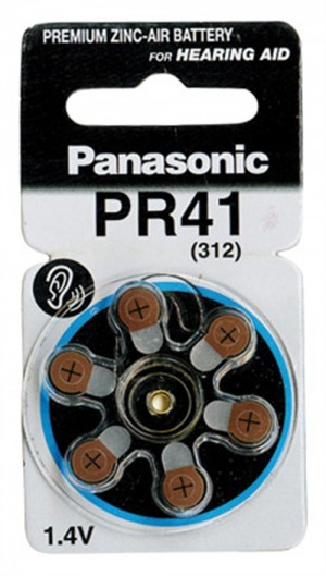 Panasonic μπαταρίες 1.4V Α312 για ακουστικά βαρηκοΐας 6τμχ