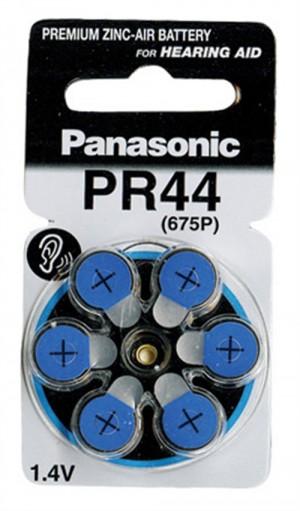 Panasonic μπαταρίες 1.4V Α675P για ακουστικά βαρηκοΐας 6τμχ