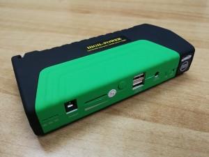 Car Powerbank: Booster μπαταρίας αυτοκινήτου-μηχανής με φακό, σφυρί, κοπίδι και USB