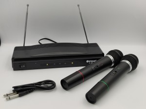 Combo με δύο ασύρματα μικρόφωνα και δέκτη