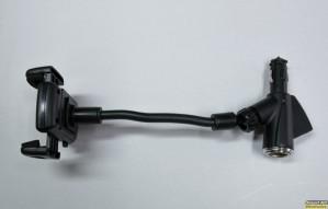 Βάση στήριξης / φορτιστής smartphone για αναπτήρα αυτοκινήτου με διπλή USB έξοδο