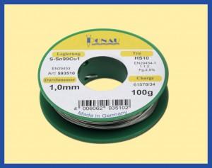 ΚΟΛΛΗΣΗ 100gr 1mm Sn99Cu1 /240o C LEAD FREE