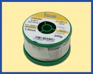 ΚΟΛΛΗΣΗ 250gr 1mm Sn95,5Ag3.8 Cu0.7 /217o C LEAD F