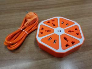 USB & Schuko πολύπριζο σε σχήμα φρούτου