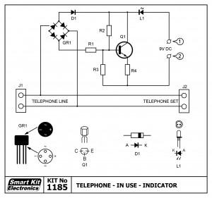 KIT No.1185 Ενδειξη κατειλλημένης τηλ.γραμμής