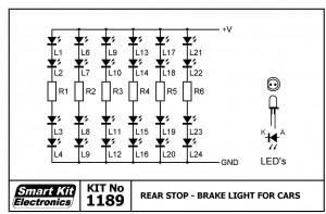 KIT No.1189 Πίσω φως αυτοκινήτου με LED