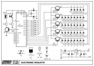 KIT No.1192 Ηλεκτρονικη Ρουλέτα