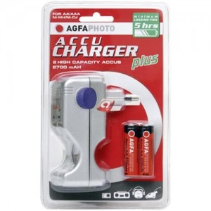 AgfaPhoto Accu Charger plus incl. 2 rech. batteries 2700 mAh