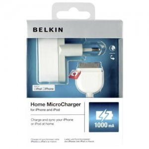 Belkin micro line adapter USB iPhone iPod incl. cable 1000 mAh