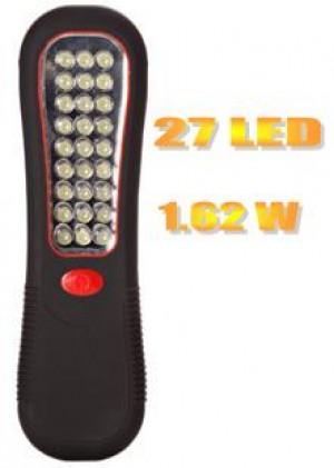 Φακός 27 LED με μαγνήτη για στήριξη
