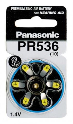 Panasonic μπαταρίες 1.4V Α10 για ακουστικά βαρηκοΐας 6τμχ