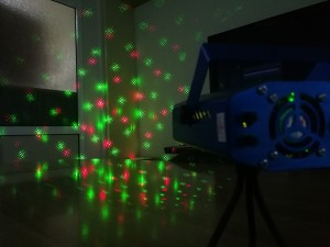Strobo Laser Projector με κινούμενο φωτισμό & πολλά σχέδια