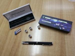 Στυλό λέιζερ με 5 διαφορετικές κεφαλές