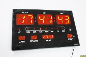 ΗΒ-3320: LED ρολόι / ημερολόγιο / θερμόμετρο