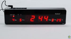 Ρολόι-μπάρα LED με ώρα / ημερομηνία / θερμοκρασία