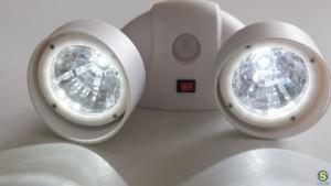 LED διπλά φώτα εισόδου, αυτόματα, με αισθητήρα κίνησης
