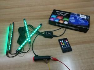 Πολύχρωμες μπάρες LED για το αυτοκίνητο