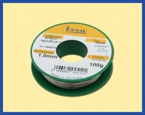 ΚΟΛΛΗΣΗ 100gr 1mm Sn95,5Ag3.8 Cu0.7 /217o C LEAD F