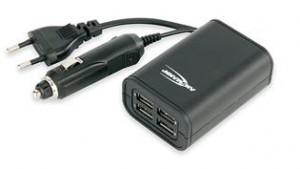 Φορτιστής Αυτοκινήτου Quatro USB