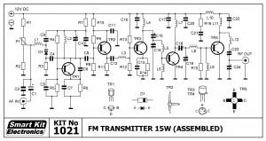 KIT No.1021 Πομπός FM 15W