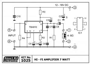 KIT No.1025 Ενισχυτής Hi-Fi 7 W
