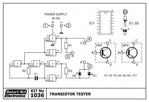 KIT No.1036 Transistor Tester