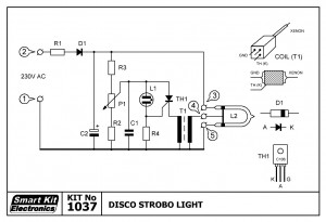 KIT No.1037 Disco Strobo Light