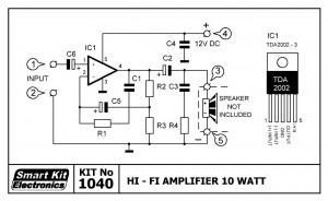 KIT No.1040 Hi-Fi Amplifier 10W
