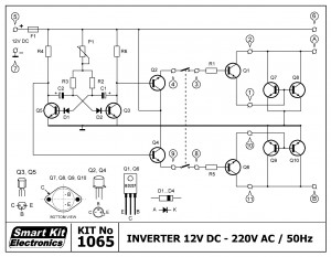 KIT No.1065 Inverter 12Vdc - 220 Vac-50Hz