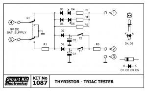 KIT No.1087 Thyristor - Triac Tester