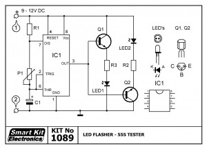 KIT No.1089 Led Flasher - 555 Tester