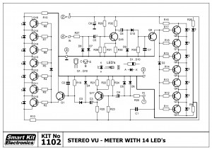 KIT No.1102 V.U. METER STEREO ME 14 LED