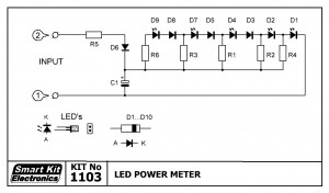 KIT No.1103 POWER METER ME LED