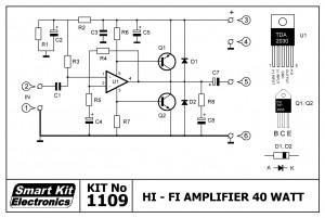 KIT No.1109 ΕΝΙΣΧΥΤΗΣ Hi-Fi 40 W