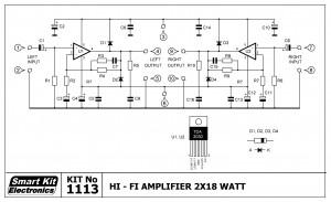 KIT No.1113 ΤΕΛΙΚΟΣ ΕΝΙΣΧΥΤΗΣ 2x18 Watts