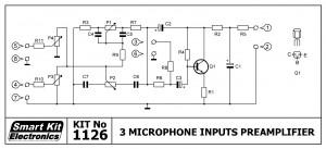 KIT No.1126 Προενισχυτής εισόδων 3ων Μικροφώνων