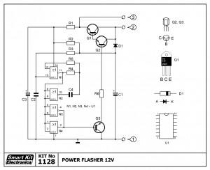 KIT No.1128 Φλάσερ Ισχύος 12VDC