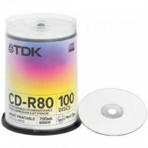 TDK CD-R80PWWCBA CAKE100pcs